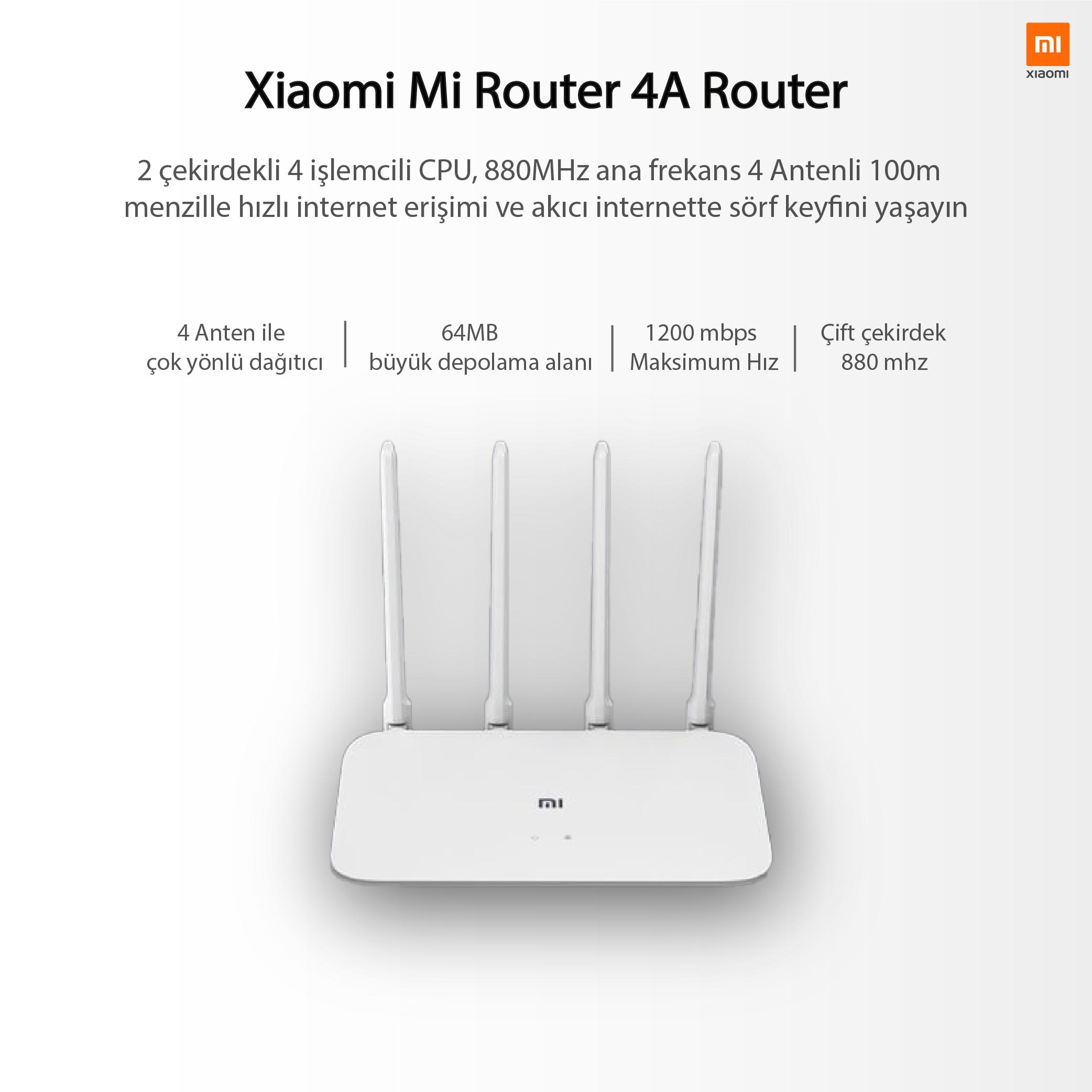 Xiaomi Mi Wifi Router 4A Router Sinyal Aktarıcı